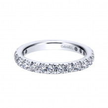 Gabriel & Co. 14k White Gold Contemporary Eternity Wedding Band - AN11380-4W44JJ