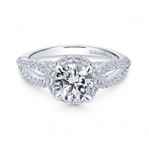 Gabriel & Co. Entwined 14k White Gold Split Shank Diamond Engagement Ring - ER12601R4W44JJ
