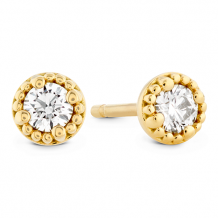 18k Gold Liliana Milgrain Single Diamond Stud Earrings
