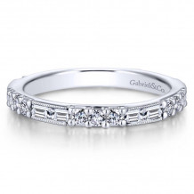 Gabriel & Co. 14k White Gold Stackable Ring - LR4572W44JJ