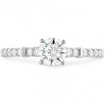 Hearts on Fire 18k White Gold Cali Chic Diamond Straight Engagement Ring - HBSCALCHR00268WC-C