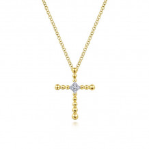 Gabriel & Co. 14k Yellow Gold Faith Pendant Crosses - NK5964Y45JJ