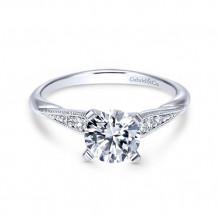 Gabriel & Co 14k White Gold Riley Diamond Engagement Ring - ER11750R4W44JJ