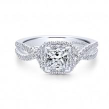 Gabriel & Co 14k White Gold Freesia Diamond Engagement Ring - ER12600S3W44JJ