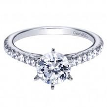 Gabriel & Co. 14k White Gold Round Straight Engagement Ring - ER7533W44JJ