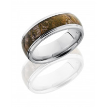 Lashbrook Cobalt Chrome Camo Domed Wedding Band - CC8DGE15_KINGSMOUNTAIN