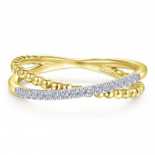 Gabriel & Co. 14k Yellow Gold Bujukan Gold Ring - LR51463Y45JJ