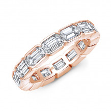 Rahaminov 18k Rose Gold Eternity Diamond Wedding Bands