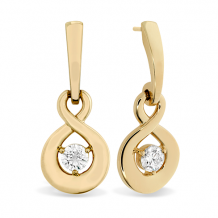 18k Gold Optima Single Diamond Drop Earrings