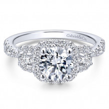 Gabriel & Co 14k White Gold Liana Diamond Engagement Ring - ER12771R4W44JJ