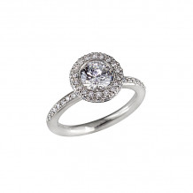 Peter Storm 14k White Gold Classic Rock Engagement Ring