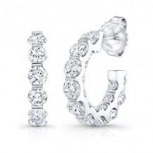 Rahaminov 18k White Gold Diamond Hoop Earrings