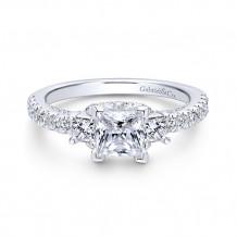 Gabriel & Co 14k White Gold Arnica Diamond Engagement Ring - ER12662S3W44JJ