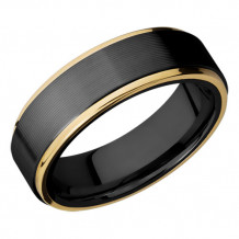 Lashbrook Zirconium 14k Yellow Gold Wedding Band - Z7FGE21EDGE_14KY
