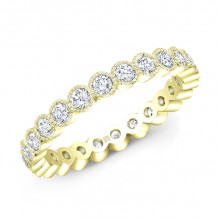 Rahaminov 18k Yellow Gold Diamond Eternity Wedding Bands