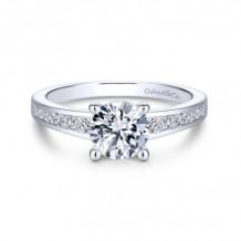 Gabriel & Co. 14k White Gold Straight Engagement Ring - ER14400R4W44JJ