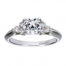 Gabriel & Co 14k White Gold Round 3 Stones Engagement Ring - ER7995W44JJ