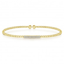 Gabriel & Co. 14k Yellow Gold Bujukan Bangle Bracelet - BG4119-65Y45JJ