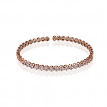 Simon G. 18k Rose Gold Diamond Bangle Bracelet