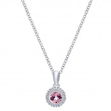 Gabriel & Co. Silver Secret Garden Cubic Zirconia Necklace NK1690SVJPZ