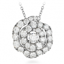 18k Gold Lorelei Diamond Floral Pendant