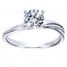 Gabriel & Co 14k White Gold Round Solitaire Engagement Ring - ER9087W4JJJ
