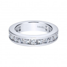 Gabriel & Co. 14k White Gold Contemporary Diamond Eternity Wedding Band - AN11294-5W44JJ