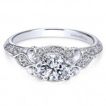 Gabriel & Co. 14k White Gold Round Halo Engagement Ring - ER11865R0W44JJ