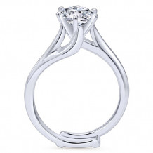Gabriel & Co. 14k White Gold Round Bypass Engagement Ring - ER10482W4JJJ