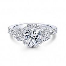 Gabriel & Co 14k White Gold Liana Diamond Engagement Ring - ER12770R4W44JJ
