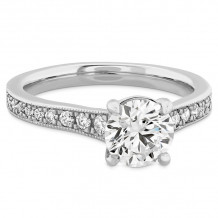 Hearts on Fire 18k White Gold Liliana Diamond Straight Engagement Ring - HBSDLILMG00308WC-C