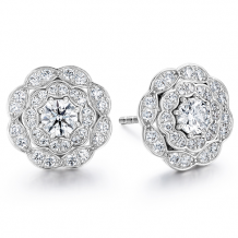 18k Gold Lorelei Double Halo Diamond Stud Earrings