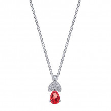 Gabriel & Co. 14K White Gold Victorian Ruby Necklace NK2070W45RB