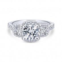 Gabriel & Co 14k White Gold Lavender Diamond Engagement Ring - ER12810R4W44JJ