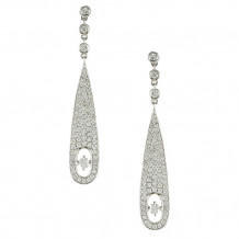 Doves 18K White Gold Diamond Earrings