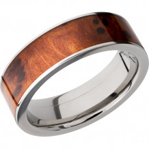 Lashbrook Titanium Inlay of Thuya Burl Band - HW7F16_THUYABURL