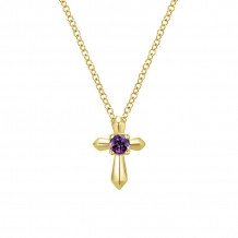 Gabriel & Co. 14K Yellow Gold Secret Garden Amethyst Necklace NK1696Y4JAM