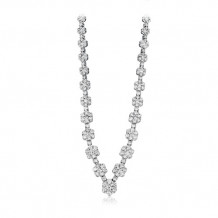 Simon G. 18k White Gold Diamond Necklace