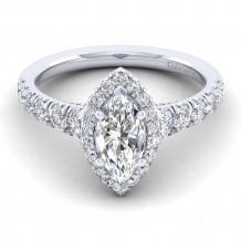Gabriel & Co 14k White Gold Hazel Diamond Engagement Ring - ER12765M4W44JJ