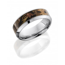 Lashbrook Cobalt Chrome Camo Flat Wedding Band - CC8HB15_KINGSWOODLAND