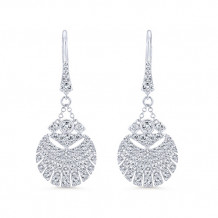 14k White Gold Gabriel & Co. Diamond Drop Earrings