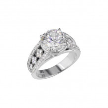 Peter Storm 18k White Gold Stepping Out Naked Engagement Ring