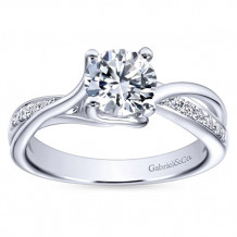 Gabriel & Co 14k White Gold Round Bypass Engagement Ring - ER6360W44JJ
