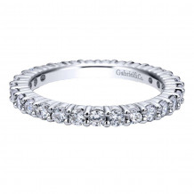 Gabriel & Co. 14k White Gold Contemporary Diamond Eternity Wedding Band - AN11248-6W44JJ