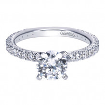 Gabriel & Co. 14k White Gold Round Straight Engagement Ring - ER4126W44JJ
