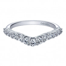 Gabriel & Co 14k White Gold Curved Anniversary Band - AN10970W44JJ