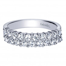 Gabriel & Co 14k White Gold Diamond Fancy Anniversary Band - AN2869W44JJ
