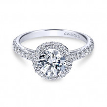 Gabriel & Co. 14k White Gold Round Halo Engagement Ring - ER7261W44JJ