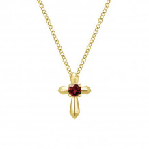 Gabriel & Co. 14K Yellow Gold Secret Garden Garnet Necklace NK1696Y4JGN