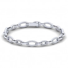Gabriel & Co. Lusso 14k White Gold Diamond Bracelet - TB2407W45JJ
